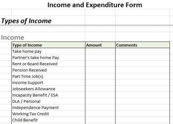 Full Size of Microsoft Excel Creating An Income Expenditure Spreadsheet By Tuutes And Template For