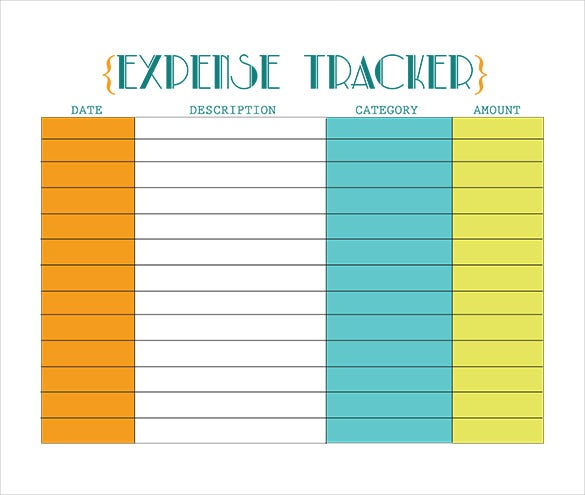 Full Size of Expense Tracking Templates Free Sample Example Format Premium Bill Tracker Spreadsheet
