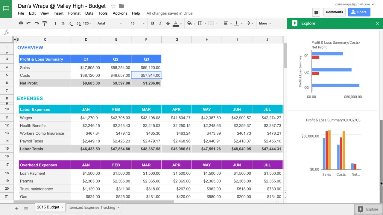Full Size of Explore In Google Sheets Spreadsheet Docs Inventory Template With Pictures Budget