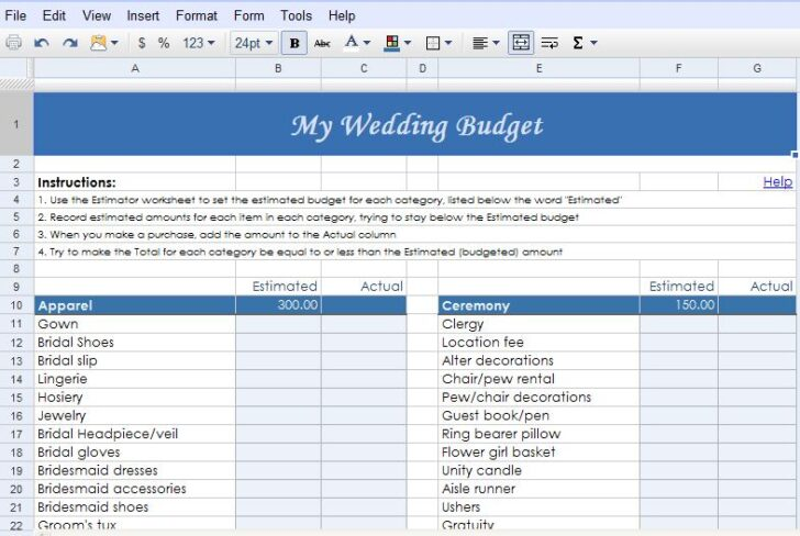 Medium Size of Fabulously Ever After Weddings Events Google Docs Wedding Planning Templates The Planner Spreadsheet Drive