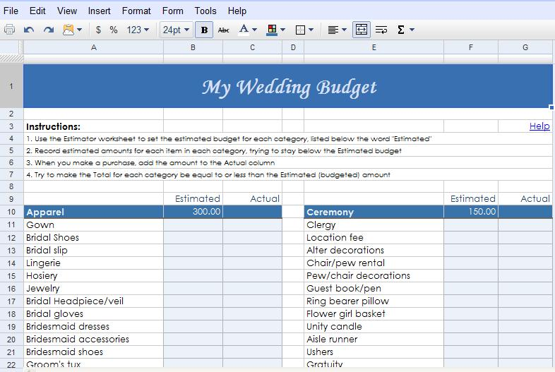 Full Size of Fabulously Ever After Weddings Events Google Docs Wedding Planning Templates The Planner Spreadsheet Drive
