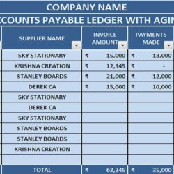 Free Accounting Templates In Excel Manage Accounts Payable With Aging Paparazzi Business Spreadsheet