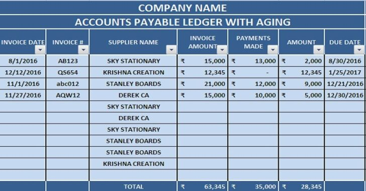 Medium Size of Free Accounting Templates In Excel Manage Accounts Payable With Aging Paparazzi Business Spreadsheet