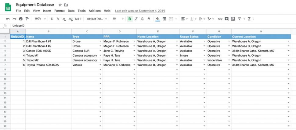 Large Size of Free Equipment Inventory Tracking Spreadsheet Template Itefy Excel Asset Accounting