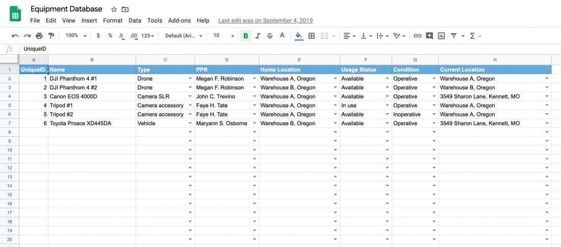 Full Size of Free Equipment Inventory Tracking Spreadsheet Template Itefy Excel Asset Accounting