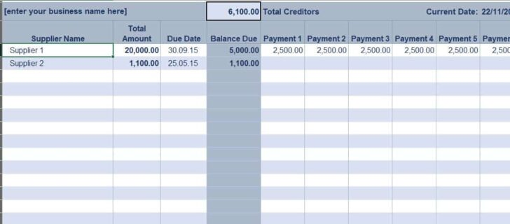 Free Excel Bookkeeping Templates Accounting General Ledger Accounts Payable Setting Up Spreadsheet