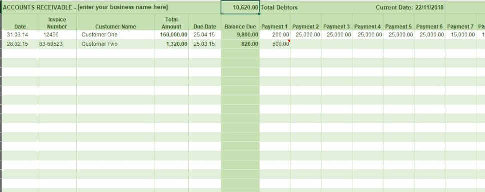Large Size of Free Excel Bookkeeping Templates Accounting General Ledger Accounts Receivable Finance Spreadsheet