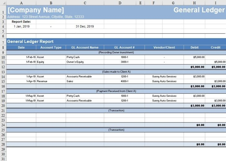 Medium Size of Free General Ledger Template Now Freshbooks Excel Accounting Templates By For Business Spreadsheet