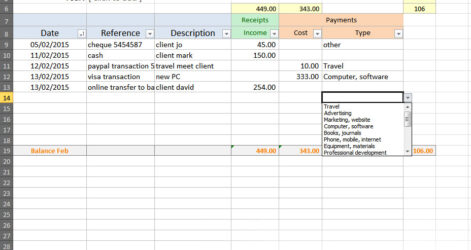 Free Simple Bookkeeping Excel Spreadsheet Poetic Mind Templates For Self Employed Booking