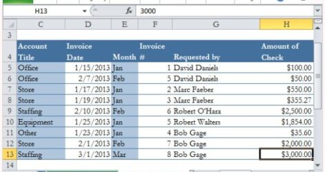 General Ledger Template For Excel Accounting Templates Record And Specify Expenses Spreadsheet