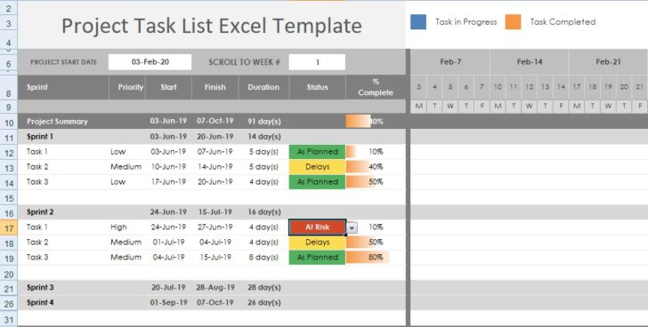 Medium Size of Get Free Project Task Template Excel Excelonist Tracker Business Proposal Pdf Spreadsheet