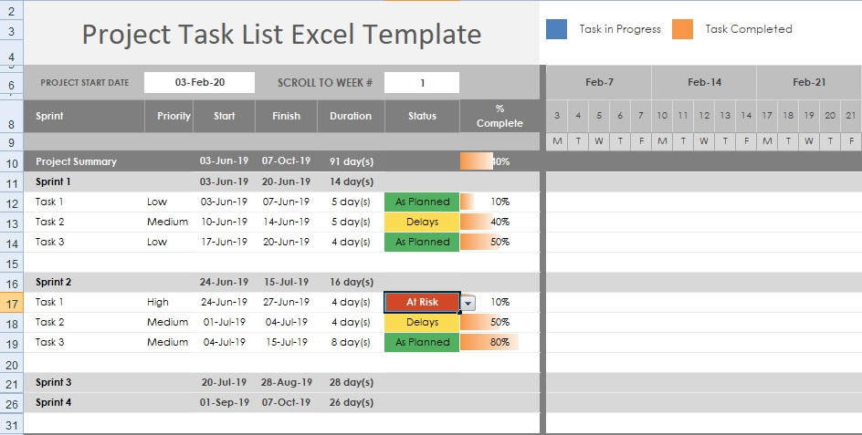 Full Size of Get Free Project Task Template Excel Excelonist Tracker Business Proposal Pdf Spreadsheet