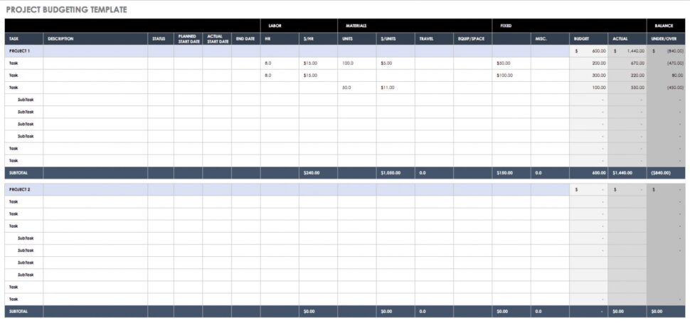 Large Size of Get Our Example Of Simple Personal Financial Plan Template For Free Business Budget Excel Spreadsheet