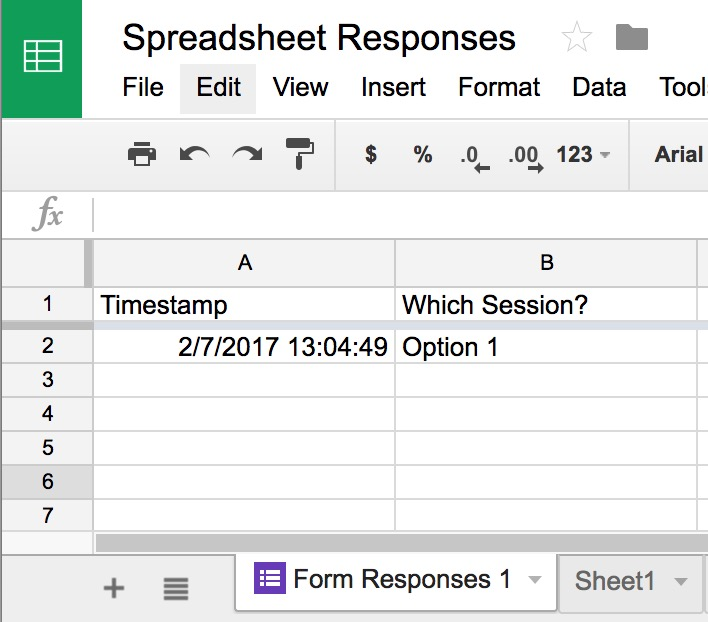 Google Form Responses Do Not Appear In The Spreadsheet Division Of Information Technology Forms Into Sheets