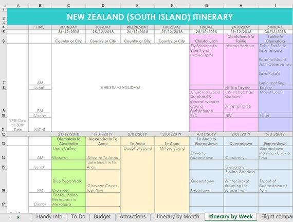 Full Size of Itinerary Organizer Bicim Excel Route Planner Template Il 570xn Obmh Restaurant Business Spreadsheet