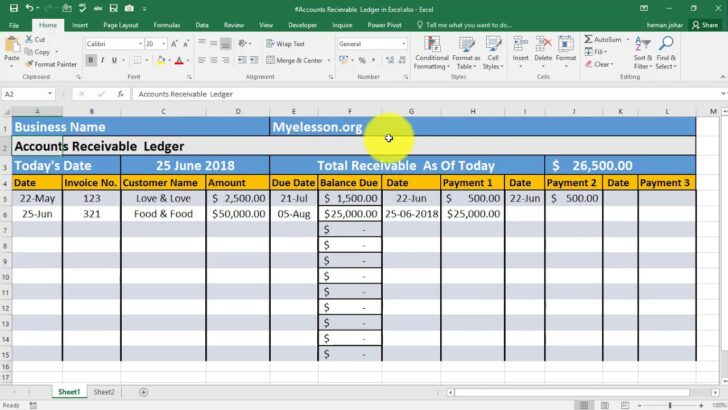 Make Accounts Receivable Ledger In Excel Manage Sample Sheet For Small Business Employee Spreadsheet