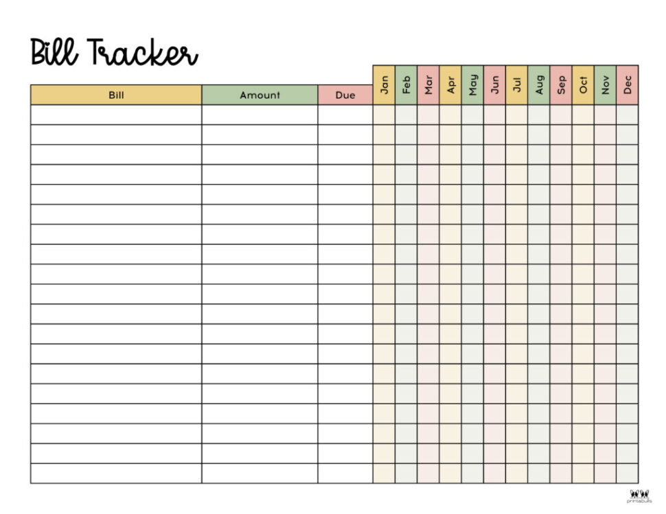 Large Size of Monthly Bill Organizers Free Printables Printabulls Tracker Spreadsheet Printable