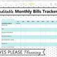 Monthly Bill Tracker Expense And Payment Etsy Free Spreadsheet Il 570xn 52po Report Excel