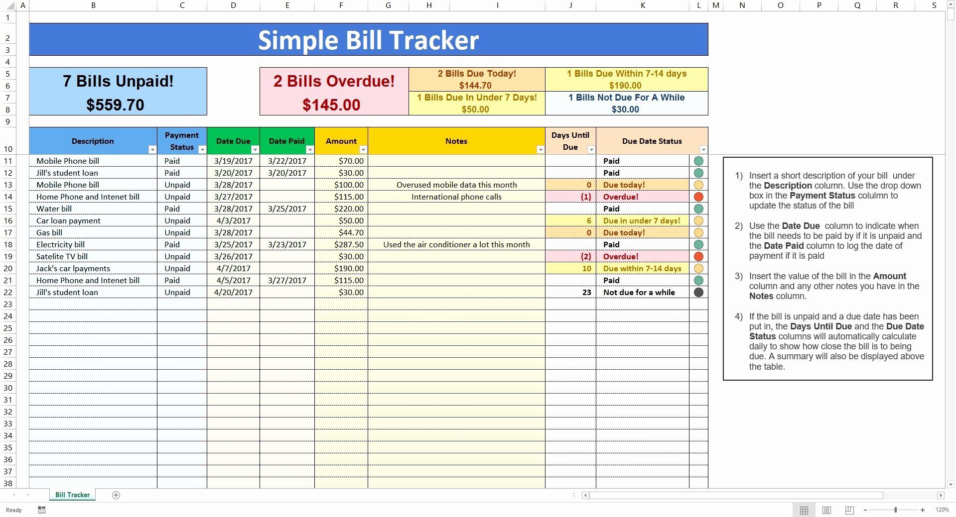 Full Size of Pin On Bussines Template Graphic Design Bill Payment Tracker Spreadsheet Business Bio