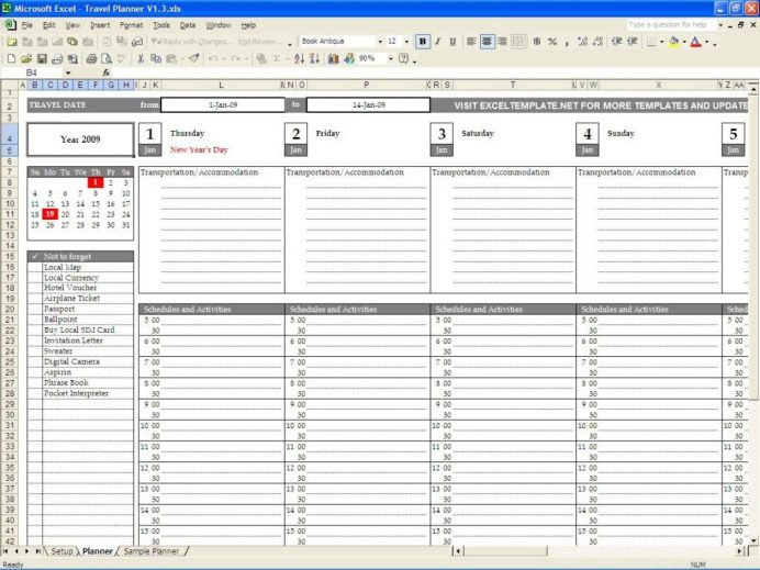 Full Size of Planner Travel Template Excel Calendar Trip Route 692x519 Small Business Partnership Spreadsheet