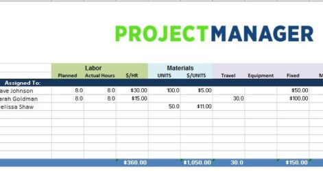 Project Budget Template For Excel Free Projectmanager Expense Tracking Business Poster Spreadsheet