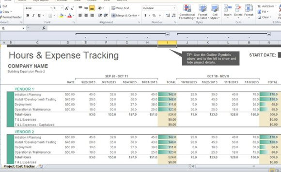 Full Size of Project Cost Tracker Template For Excel Expense Tracking 580x355 Professional Business Spreadsheet