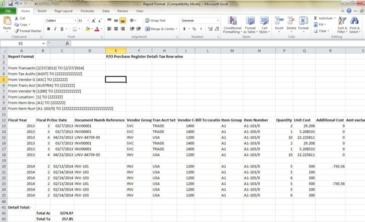 Purchase Recommendation Report Template Free Professional Templates Monthly Format In Spreadsheet Excel