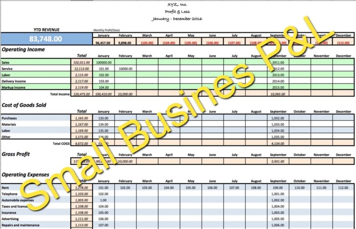 Small Business Income Expense Tracker Monthly Budget And Cash Etsy Spreadsheet For Expenses Excel