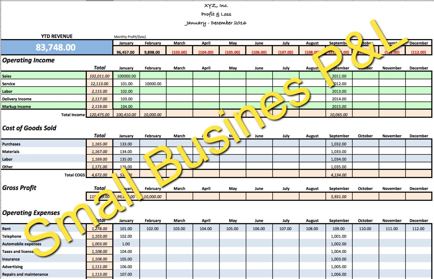 Full Size of Small Business Income Expense Tracker Monthly Budget And Cash Etsy Spreadsheet For Expenses Excel