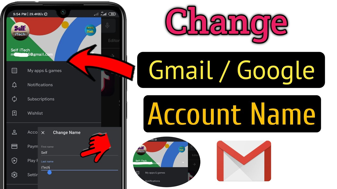 Full Size of To Change Gmail Id Or Google Account Name Easy Fast Edit Business Templates Excel Spreadsheet
