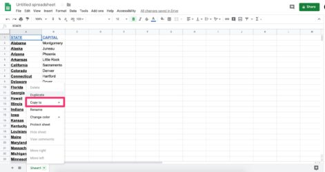 To Copy Google Sheet In Different Ways Spreadsheet Drive Comparison Essay Template Free