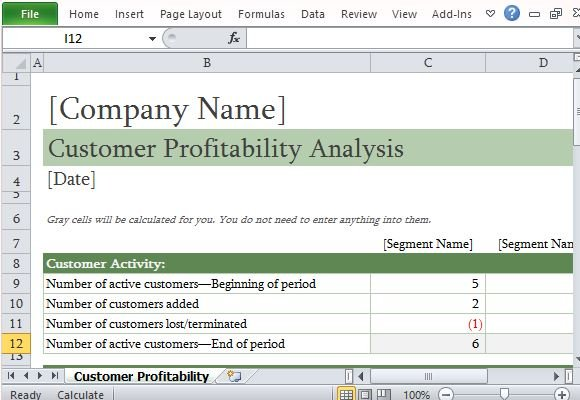 Full Size of To Easily Perform Customer Profitability Analysis In Excel Job Report Template Well Spreadsheet