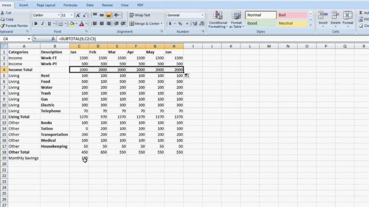 To Set Up Totaling Spreadsheet In Excel Tips For Microsoft Create An Templates Project