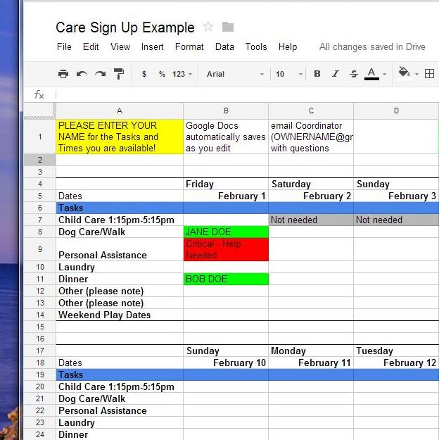 Full Size of To Use Google Docs For Sign Up Sheets Episcopalshare In Sheet Signup Drive Excel Budget Spreadsheet Online