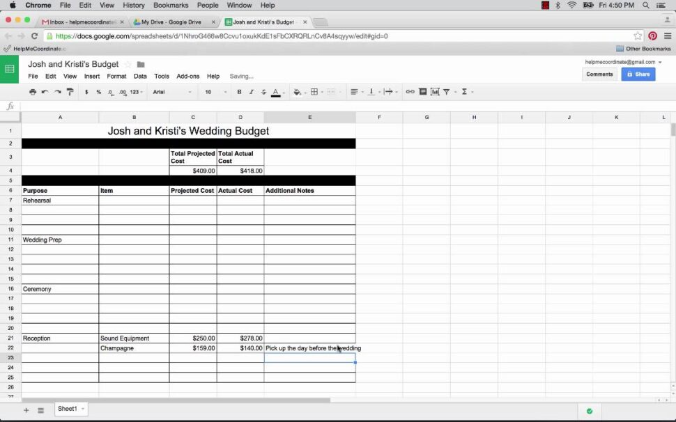 Large Size of To Use Google Spreadsheet Plan Your Wedding Free Templates The Planner Drive Excel