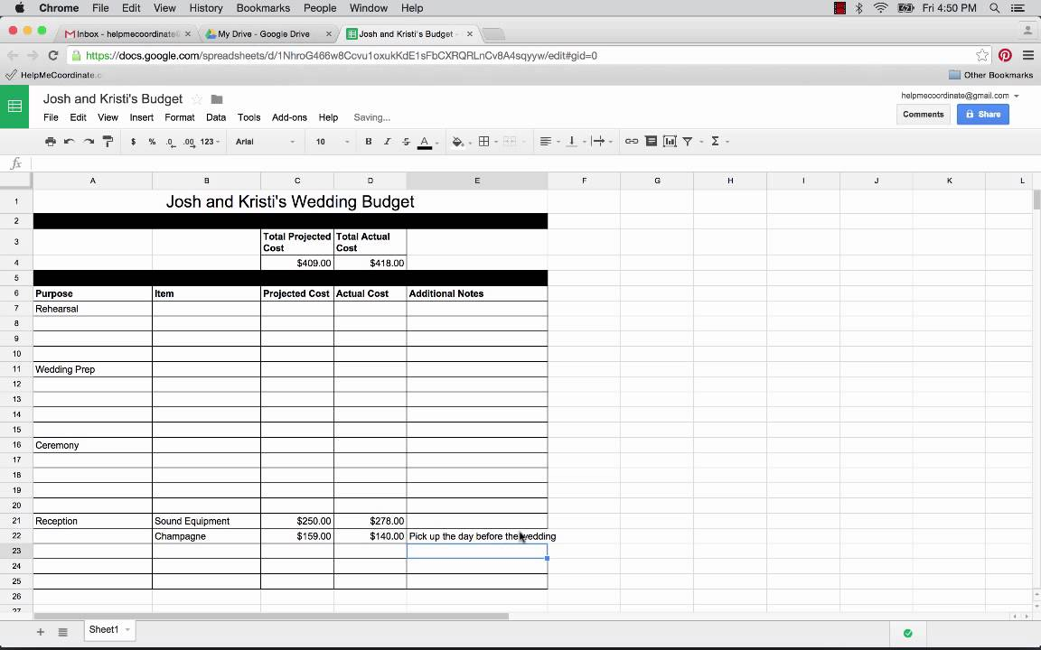 Full Size of To Use Google Spreadsheet Plan Your Wedding Free Templates The Planner Drive Excel