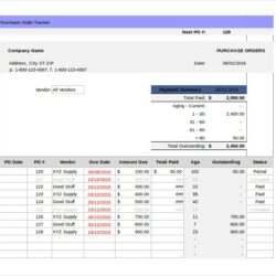 Tracking Templates Pdf Free Premium Correspondence System Excel Purchase Order Template Spreadsheet